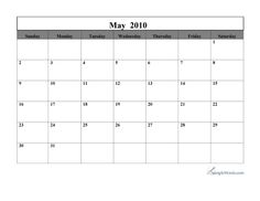 Calendar May 2010 Printable Calendar May, Academic Calendar, Mr Printables, Sheet Music, Learning, Simple, Studying, Teaching, Music Sheets