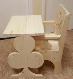 Handcrafted, Personalised Wooden Table & Chair for Toddlers (Ages 1-4) by CreativeWoodenGifts on Etsy