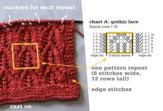 Knitting Chart Repeats