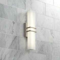 Possini Euro Exeter Nickel LED Bathroom Vanity Light - Lamps Plus Led Bathroom Vanity Lights, Bathroom Sconces, Bathroom Light Fixtures, Bathroom Ideas, Bathroom Inspiration, Bathroom Organization, Bathroom Designs, Bathroom Remodeling, Bath Ideas