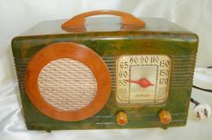Vintage Motorola Model 50-XC-2 Catalin Bakelite TUBE RADIO Antique Aero-Vane