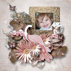 Stunning layout, created from a gorgeous Charity kit! #Digital Scrapbooking Studio #theStudio