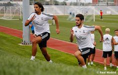 Real Madrid complete their first training session in Saint Louis