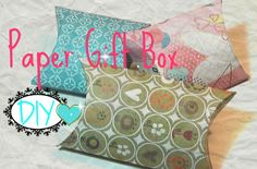 Scatolina per orecchini - Gift box for earrings eng.sub (DIY project)