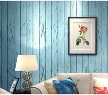 Modern Mittelmeerraum Gestreiften Holz Tapetenbahnbreite Für Wand  Wohnzimmer Schlafzimmer Papel De Parede Listras Moderno Tapeten(