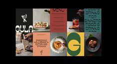 GULA Branding on Behance Typography Logo, Typography Design, Branding Design, Graphic Design Posters, Graphic Design Illustration, Skincare Branding, Event Branding, Plant Based Milk, Retro Font