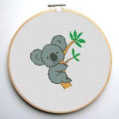 Cross stitch pattern PDF Cute Koala Instant Download