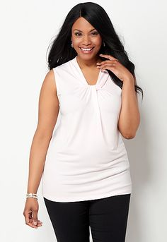 Knot Front Layering Tank
