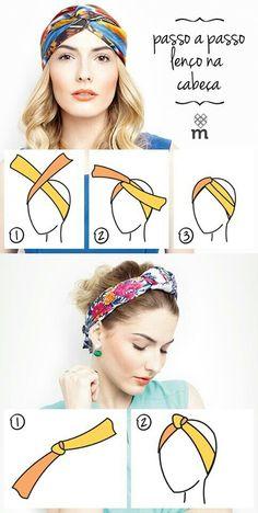 Modos de usar lenço na cabeça