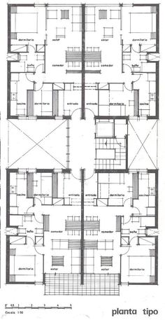 Barba Corsini, Gral Mitre, where I used to live Social Housing Architecture, Architecture Plan, Residential Architecture, Building Plans, Building Design, Hotel Floor Plan, Architectural Floor Plans, Apartment Floor Plans, Floor Plan Layout