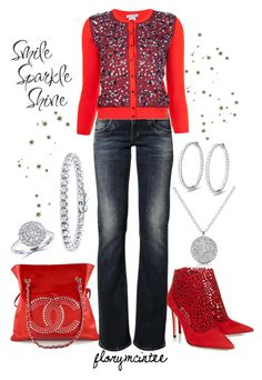 Smile, Sparkle, Shine! by florymcintee on Polyvore featuring Oscar de la Renta, LTB by Little Big, Chanel, Effy Jewelry, Anne Sisteron and BERRICLE