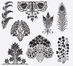 ART NOUVEAU ORNAMENTS FREE VINTAGE VECTOR PRINTABLE | https://www.freevintagevectors.co/single-post/art-nouveau-ornaments