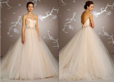 Simply loveeee this Lazaro peach gown since I saw it on Say Yes to the Dress.  Someday!