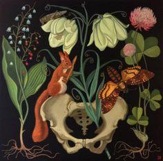 "Igor Baranov - ""Herbarium II"". Painting, 39.4 H x 39.4 W x 0.8 in."