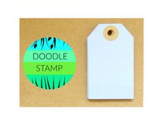 RECTANGLE LUGGAGE TAGS  Pack of 14 Pale Blue 140 by DoodleStamp