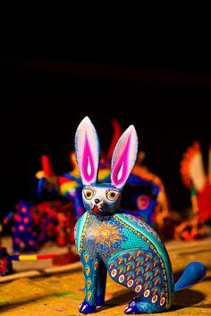 Mexican Conejo Alibrije. Folk art.