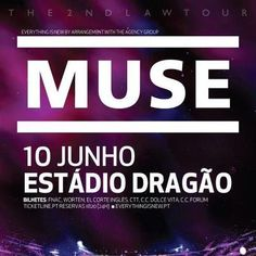 Está confirmada a data do Concerto dos Muse no Porto. 10 de Junho de 2013! Bilhetes serão postos à venda no sábado (24 de Novembro)!