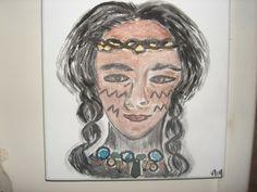 tribu:acrylique et collage