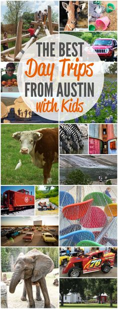 Gas up the car and head out on one of our favorite day trips from Austin with kids. Five different destinations and more than 20 activities. There's way more fun than you can squeeze into a day!