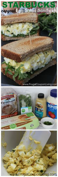 Copycat Starbucks Egg Salad Sandwich Recipe – Refreshing Beverage Made at Home #recipe #copycat #starbucks #eggsalad http://www.frugalcouponliving.com/2014/05/03/copycat-starbucks-egg-salad-sandwich-recipe/