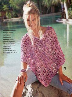Inspirações de Croche com Any Lucy: Poncho