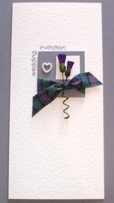 contemporary scottish wedding invitations designs - Google Search