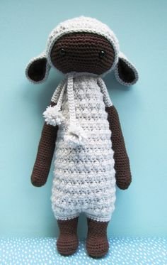 LUPO the lamb made by gusetcie / crochet pattern by lalylala