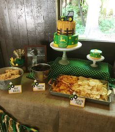 John Deere first birthday party