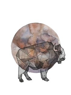 Hand inked geometric animals, laid atop watercolor circles, representing the full moon, the universe & oneness. Watercolor Moon, Watercolor Circles, Watercolor Background, Animal Drawings, Art Drawings, Grandeur Nature, Geometric Art, Geometric Animal, Animal Design