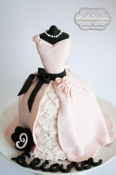 Pink Chic Dress Cake by DeliciaDesigns