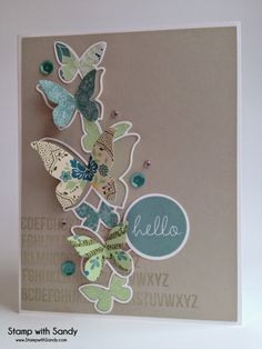 Stamp with Sandy: Butterfly Drift for The Paper Players