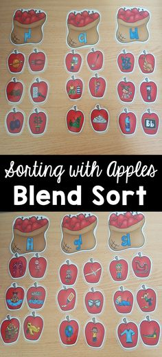L Blend sort Apple Theme -Fun and engaging blend apple sorting center to provide your kids with practice with sorting l blends under the correct heading: sl, bl, gl, fl, cl and pl. End Of Year Activities, Teaching Activities, Teaching Kindergarten, Learning Games, Learning Resources, Teaching Ideas, School Resources, Teacher Resources, Classroom Resources
