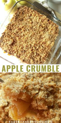 Easy Apple Crumble Recipe-This apple crumble is so easy to make and delicious with tangy apples and crispy crumbles. You'll love this classic and simple Fall dessert recipe! #applecrumble #apples #crisp #easyrecipe #fall Apple Crumble Recipe Easy, Healthy Apple Crumble, Apple Crisp Recipes, Easy Apple Desserts, Easy Sweets, Delicious Desserts, Easy Healthy Meal Prep, Easy Vegetarian Dinner, Tasty Vegetarian Recipes