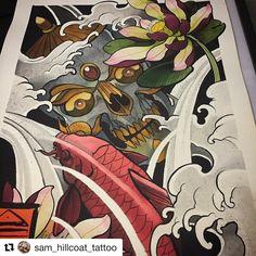 Design by @sam_hillcoat_tattoo  #japanesetattooart #japanesetattoos #newschooljapanese #japaesetattoo #traditionaljapanese #irezumi #irezumicollective #tebori #wabori #japanesetattoodesign #neojapanese #tattooartist #tattooart#artwork #art #prints #ink #inked #tattooed #tattoist #instagood #tatted #instatattoo #bodyart #tatts #tats #amazingink #tattedup #inkedup #tattoodesign