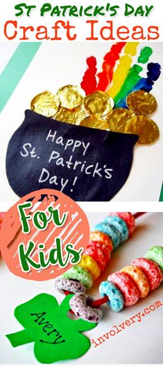 St Patricks Day Crafts for Kids ! easy St Patrick's Day crafts for kids to make at school, church, pre-school, daycare, or at home. Fun crafts ideas for St Paddy's Day #stpatricksdaycrafts #craftsforkids #stpatricksday