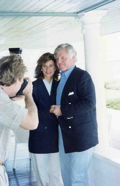 Senator Kennedy and Vicki Kennedy at the house.