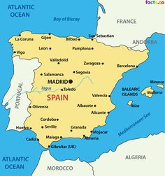 simple spain map - Google Search