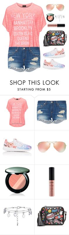 """Look 1 02/25/2016"" by aneetaalex ❤ liked on Polyvore featuring Replace, rag & bone, NIKE, Ray-Ban, Sensai, NYX, New Look and Anya Hindmarch"