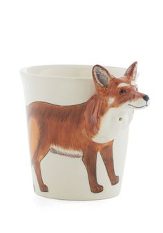 Crafty Hour Mug. After a long day at work, indulge in some hot cocoa served up in this fox mug! #gold #prom #modcloth