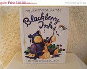Vintage 1985 Blackberry Ink Eve Merriam Poems