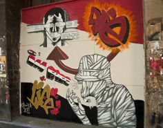 CAIRO, EGYPT_MURAL LOCATED ON ISMAEL MOHAMED STREET IN ZAMALEK, CAIRO, EGYPT_THESE MURALS HAVE SINCE BEEN PAINTED OVER_PHOTO BY JOANNA POLLO...