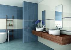 Camelia seinälaattasarja. Värit white ja blue, koko 25×45 cm. Decoration, New Homes, Bathtub, Bathroom, Star Lights, Home Decor, Inspiration, Home, Blue