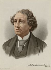 """Original title: John A. MacDonald (1815-91). """"Canada's first prime minister and architect of the Canadian constitution, the British North America Act...His biggest achievement was guiding the constitutional conferences which led to the 1867 BNA Act, joining Quebec, Ontario, New Brunswick and Nova Scotia as the confederation of Canada...Macdonald led the country through many difficult periods including Fenian attacks through the USA and the union of the colonies of P.E.I., BC and Manitoba…"""