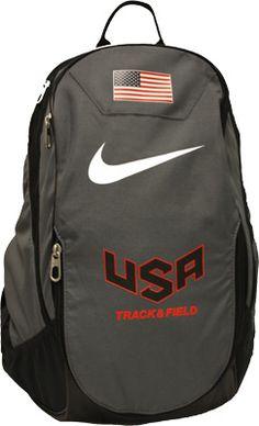 I want this!! Nike USATF Club Team Nutmeg Backpack
