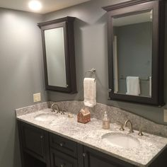 Black And White Bathroom. Double Vanity In A Black Feathered Glaze. Viatera  Countertop Aucet. Shower BenchesShower SystemsDouble ...