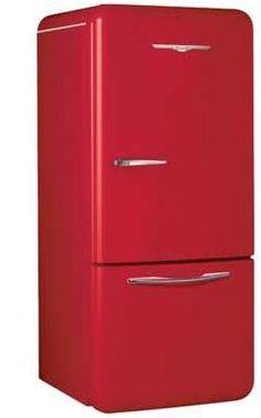 modern take on a vintage refrigerator. Love it!