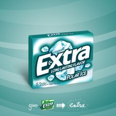 Extra Polar Ice gum is an avalanche of icy flavor.