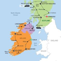 Itinerary ..Best of Ireland and Scotland - 2015 - USA - Trafalgar Tours