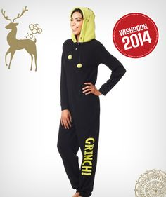 You can be The Grinch this holiday season in this onesie! #WishlistWonderland