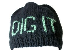 Gardeners hat, Allotment beanie - Hand Knitted, £16.99